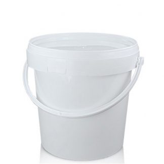 1 Litre Small White Bucket With Handle And Lid
