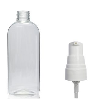 100ml Clear Oval Bottle With Lotion Pump