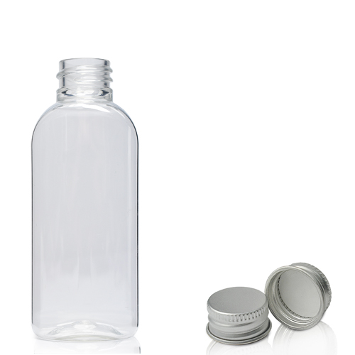50ml Plastic Oval Bottle With Metal Cap