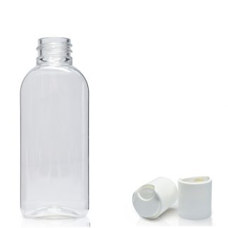 50ml Plastic Oval Bottle With Disc-Top Cap