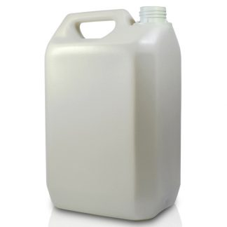 5 Litre PCR White Plastic Jerry Can