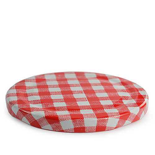 82mm red gingham lid