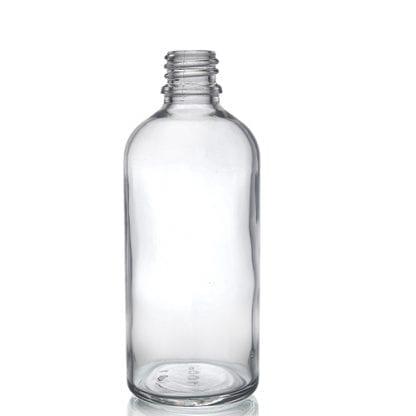 100ml Clear Glass Dropper Bottle w No Cap
