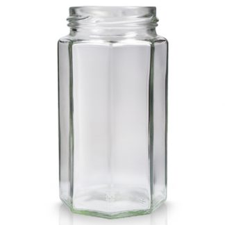 12oz Octagonal Glass Jar