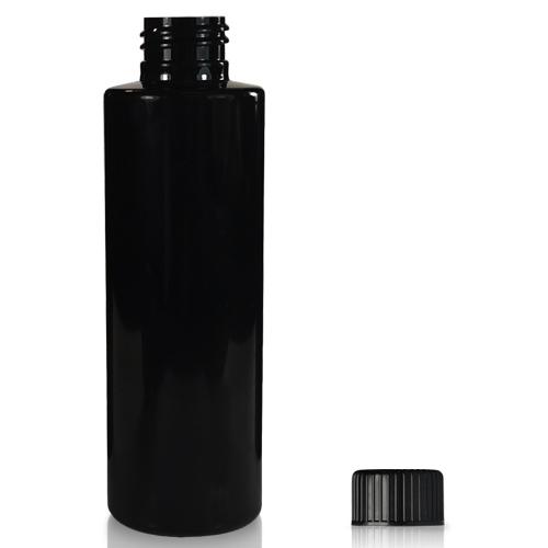 150ml Black Plastic Bottle With Cap