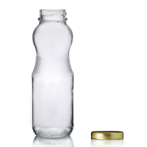 290ML Glass juice bottle with lid