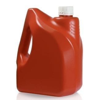 3 Litre Red Plastic Jerry Can & Tamper Evident Cap