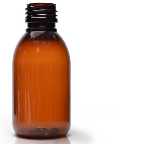 125ml amber plastic Sirop bottle