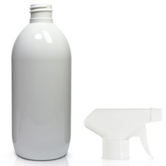 500ml White PET Olive Bottle & Trigger Spray