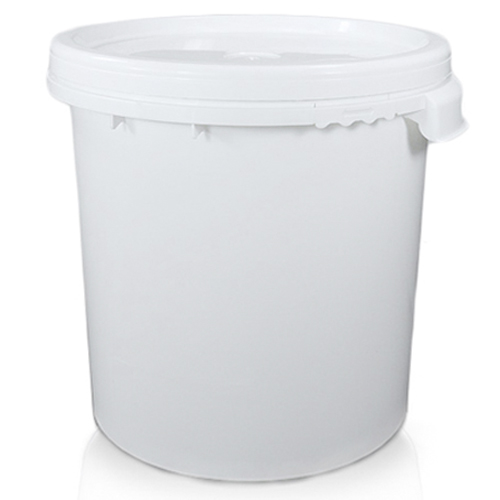 30 litre While Plastic Bucket With Side Grips