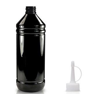 1000ml Black PET Bottle