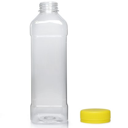1000ml Square PET Plastic Juice Bottle w yc