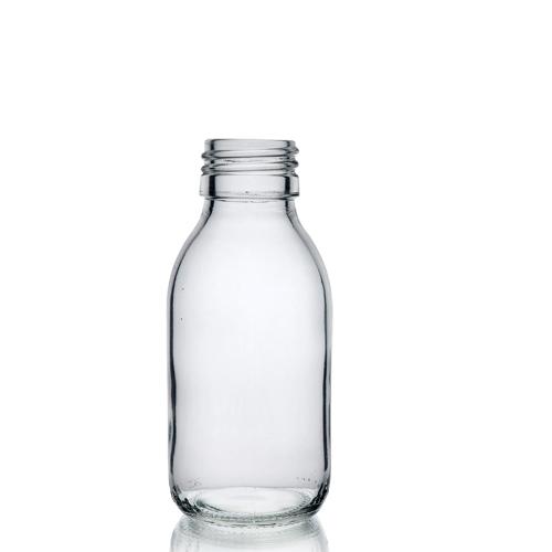 100ml Clear Glass Sirop Bottle w No Cap