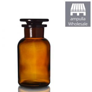 250ml Amber Glass Apothecary Bottles With Stoppers Wholesale
