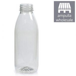 500ml Classic Clear RPET Juice Bottle Bulk