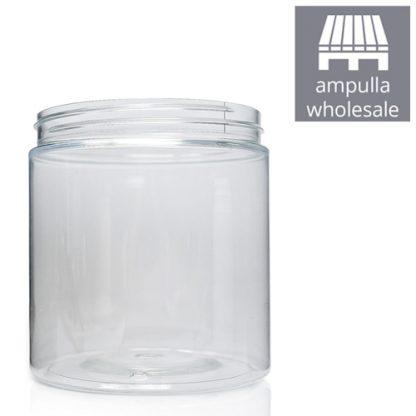 750ml Clear Plastic Screw Top Jar Bulk