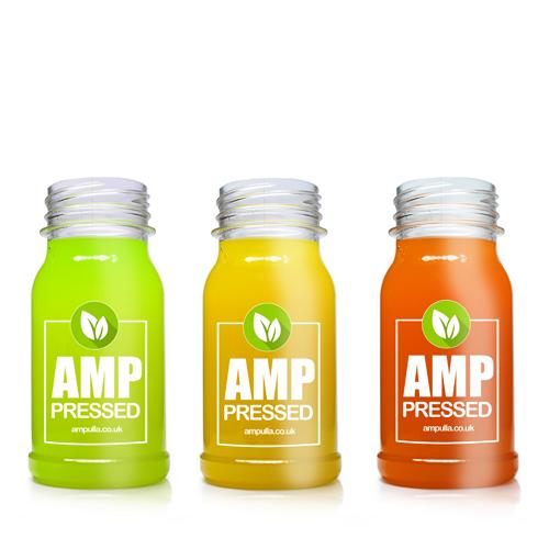 125ml Filled juice bottles