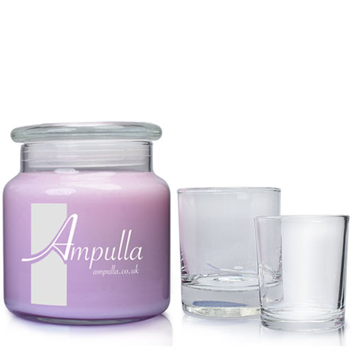 Glass candle group