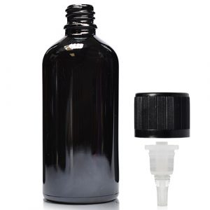 100ml black dropper bottle with crc