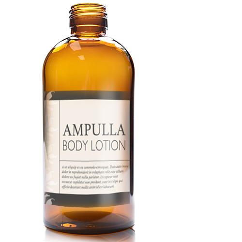 300ml Amber Boston bottle with label