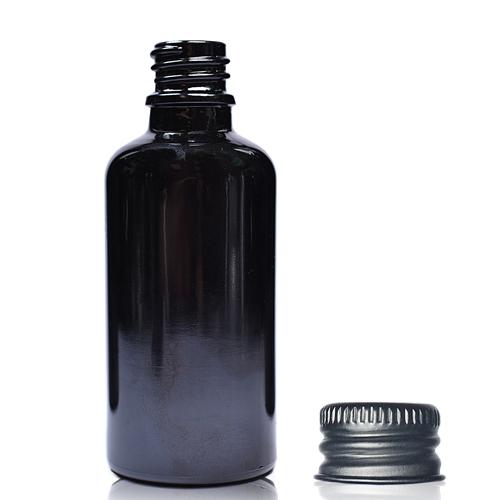 30ml black dropper bottle with ali cap